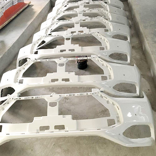 Vacuum casting prototype on car bumper