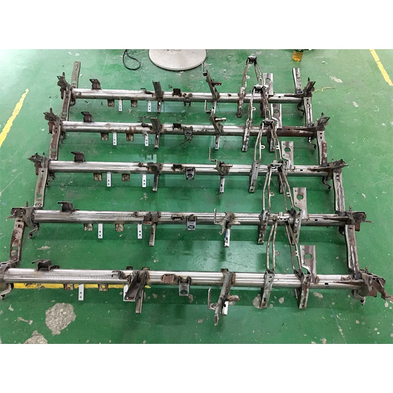 Metal car parts with stamping