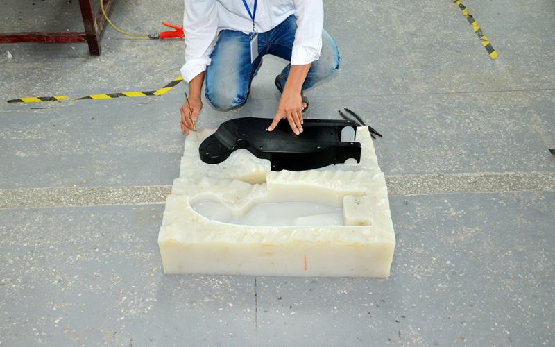 Plastic prototype made by vacuum casting